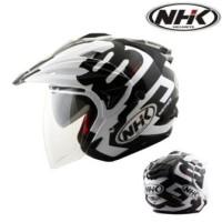 Helm NHK Godzilla Motif Eight G Half Face Zebra Godzila