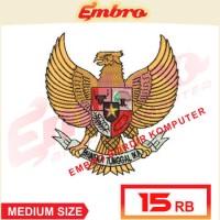 Bordiran Logo - Art Garuda Pancasila