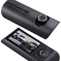 CAR DVR X-3000 SILICON ( Car Black Box with dual camera )