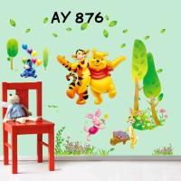 Jual Wallstiker Uk.60x90 Wall Sticker Pooh Tiger Murah