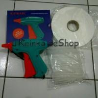 Jual Paket Alat tembak tag gun isinya Pita label penanda cucian laundry 1/2 Murah