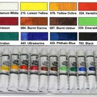 Cat Lukis Acrylic 12 Warna . BAGUS dan MURAH
