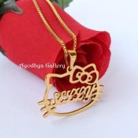 harga Kalung Nama Hello Kitty Lapis Emas - Perhiasan Nama Lapis Emas Tokopedia.com