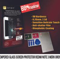 Jual TEMPERED GLASS SCREEN PROTECTOR REDMI NOTE 3 / 3 PRO MERK OREN Murah