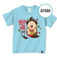 KAOS ANAK MUSLIM AFRAKIDS UK.  XL  DOA BEFORE YOUR EAT