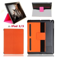 NEW -iPad 2/3 Fashion case New style in 2014 Protect in Full Omni 6 colors cover for iPAD2/3 Wit stand support