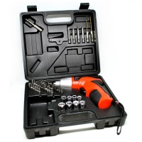 Mesin Bor / Cordless Multi-function Electric Screwdriver Set 4.8V 45pcs