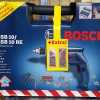 Bor Beton / Tembok 10 Mm Bosch GSB 10 RE Box (Extra 100 Pcs Accessories