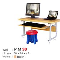 Meja Komputer Anak Lunar MM 98 Beech / Walnut