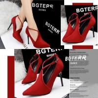 harga 70364 Red Heel Beludru 10cm Sepatu Import Wanita/high Heels/batam Tokopedia.com