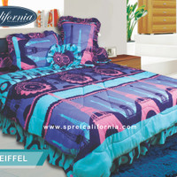 Bedcover + Sprei California 180x200 motif Eifel KING (MY LOVE GROUP