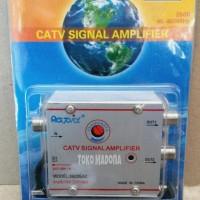 harga Splitter + Booster Penguat Sinyal Tv Catv Signal Amplifier Rapid 2 Way Tokopedia.com