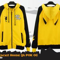 Jual Pikachu - Pika King Hoodie (Jaket Anime Pokemon - JA POK 01) Murah