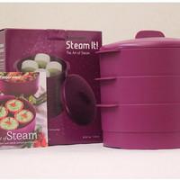 Tupperware Steam It! Ungu (ISI 3PCS)