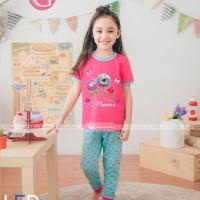 Stelan Anak Impor - Piyama Gw 143 Flashing Light Led - Girl  H I J K
