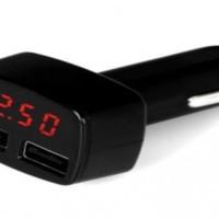 LIGHTER DUAL USB + INDICATOR VOLTAGE / CHARGER USB DGN INDIKAT
