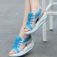 harga sepatu sandal wanita cewek kerja kuliah slip on sneakers dropship Tokopedia.com