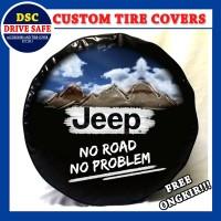 Cover Ban atau Sarung Ban Mobil Jeep Design Gunung