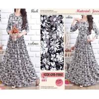 Jual Maxi Dress Grace Jersey / Busana Muslim Wanita / Baju Gamis Muslimah Murah