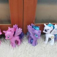 Mainan pajangan figure My little pony Hasbro set 4 pcs