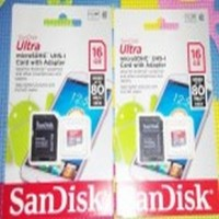 MICRO SD SANDISK ULTRA 16GB C10 (+ ADAPTER) 80mb / S