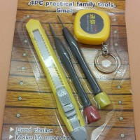 4 Pc Set Tool (Meteran, 2 Obeng, Cutter)