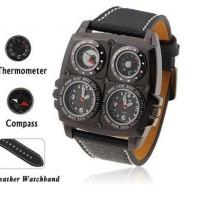 Jual jam tangan pria / cowo Original OULM kompas termometer 1140DS Murah