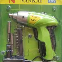 Bor Tangan Charger NANKAI / Cordless Screwdriver Drill Set