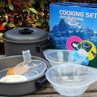 Nesting Cooking DS-200 Isi 2 Set/ Alat Masak camping