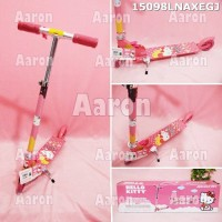 Otopet Scooter Hello Kitty Roda 2 Pink Ori Sanrio
