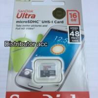 harga sandisk micro sd ultra 16GB class 10 48mb/s Tokopedia.com