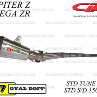 Knalpot CLD Racing Jupiter Z / Vega Type C7 Standar Tune Up 150cc Doff