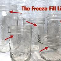 INFO mason jar fill (batas untuk masuk ke  freezer kulkas) merk BALL