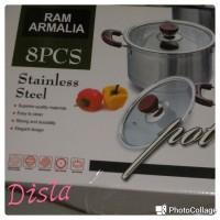 Jual Panci RAM ARMALIA stainless steel 8pc/ Panci set 8pc Murah