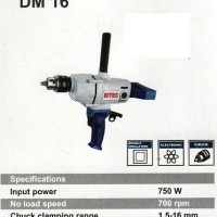 BITEC DM 16 Mesin Bor Besi Kepala 16 Mm Besar Tenaga Besar Low RPM