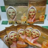Masker Wajah Qiansoto Gold 24 K Ecer Kulit Indah Halus Instan