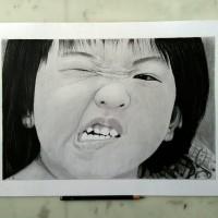 harga lukisan realis wajah (A3) Tokopedia.com