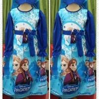 gamis anak karakter Frozen usia 7 - 9 tahun