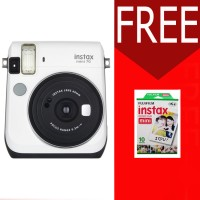 FUJIFILM INSTAX MINI CAMERA 70 70S WHITE Free 1 Pack Film Polos PUTIH
