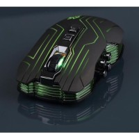 LED Optical Wireless Gaming Mouse 9D 3200 DPI - HITAM