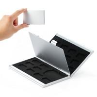 Metal 18 In 1 Aluminum 16 Micro SD + 2 SD Card Storage Box -