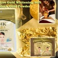 MASKER BUBUK EMAS 24 K LIYASHINJA / 24K WHITENING GOLD POWDER MASK