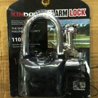 Gembok Alarm 12 cm kinbar/ gembok Alarm pengaman rumah dan kendaraan