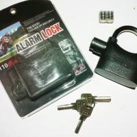 Kunci Gembok Alarm untuk Alat Keamanan Mobil Motor Pintu Pagar Gudang