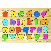 Jual Puzzle huruf kecil, mainan edukatif edukasi anak SNI balok kayu murah Murah