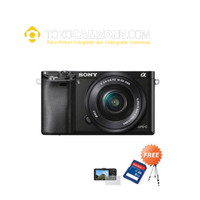Sony Alpha A6000 Kit 16-50mm + Micro SDHC + Screen + Tripod