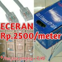 KABEL / CABLE LAN / UTP / JARINGAN CAT5e + RJ45 (ECERAN)
