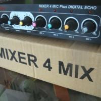 harga Mixer 4 Mic + Digital Echo