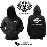 Jaket Hoodie Zipper Dota2 TEAM SECRET