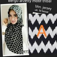 Bergo Arzetty Motif Tribal Premium / Bergo Arzetty Zigzag / Arzeti